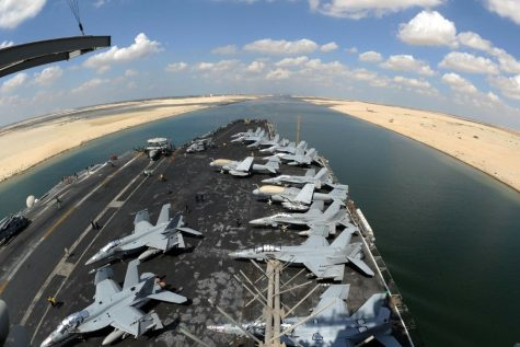 The blocking of the Suez Canal left the world