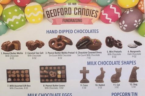 The mini-THON committee is conducting a candy sale sponsored by Bedford Candies.