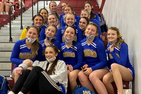 The Bellwood-Antis cheer squad wrapped up its season Saturday at the District championships.