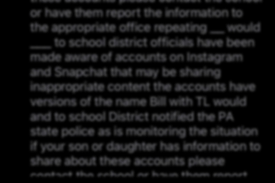 BA parents received a voicemail last week regarding inappropriate pictures of students being shared online.