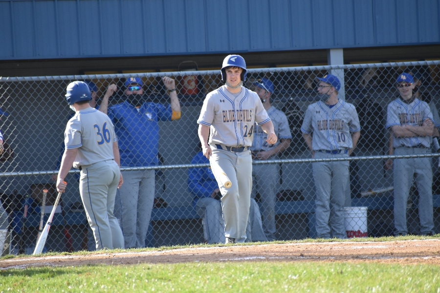 Joe Dorminy had a big day for the Blue Devils against Moshannon Valley.