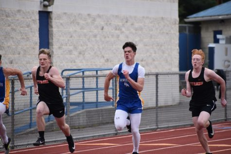 Sean Mallon win the 100 and 200 sprints against Tyrone.