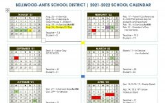 Bellwood-Antis officialized its school calendar for 2021-2022.