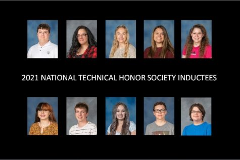 Ten B-A students earned membership in the National Technical Honor Society. Those students include: bottom row (l to r) - Gabriella Musselman, Matthew Luther, Ashlyn Holby, Jeremy Brown, and Devon Bacon; top row (l to r) - Holden McClellan, Karlee Langenbacher, Paige Otto, Makayla Rodland, and Hannah Williams.