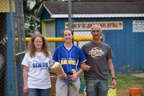 Katie Robison is finishing up her career as the Lady Blue Devil softball team