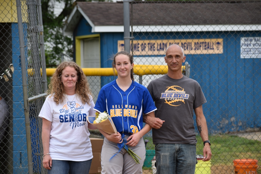 Katie Robison is finishing up her career as the Lady Blue Devil softball team's starting catcher.
