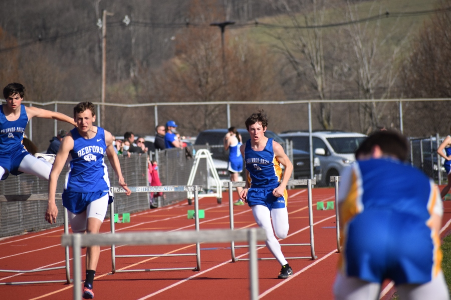 Hunter Shawley is one of the top-seeded hurdlers at today's Bellwood-Antis Invitational.