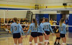 B-A volleyball team took down Everett last night.