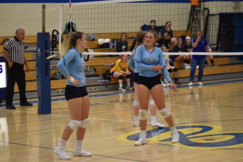 The volleyball team won a thriller over Glendale last night.
