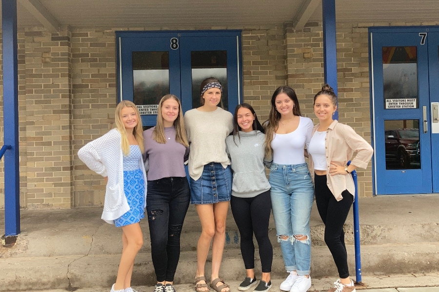 Reghan Hostler, Emma Chronister, Sophia Nelson, Anna Lovrich, Giovanna Caracciolo, and Emilee Kensinger make up this years Homecoming court.