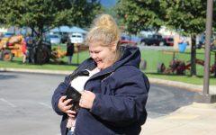 FFA Member Crisinda Miller holds bunny rabbit