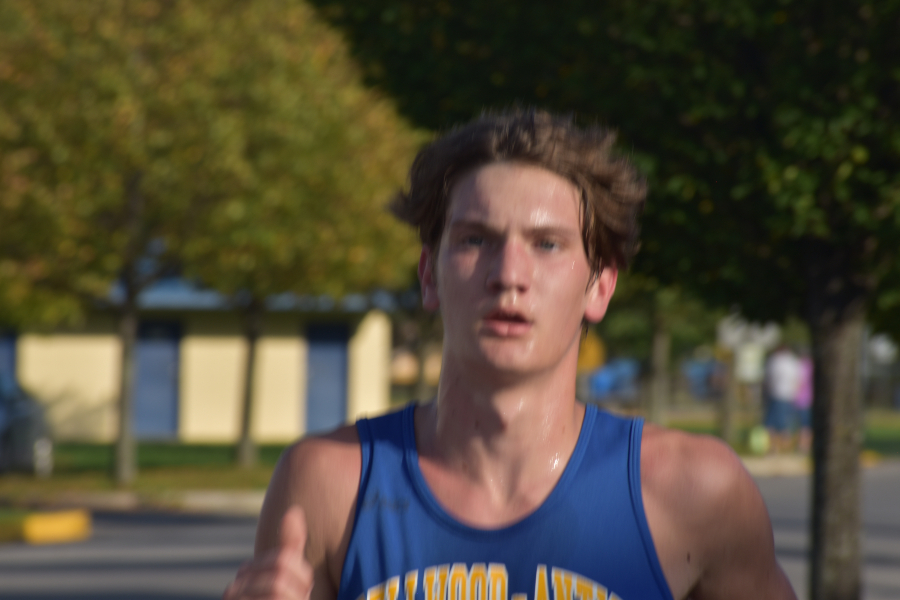 Corey Shanafelt was one of four top 10 finishers for the boys cross country team at the ICC meet.