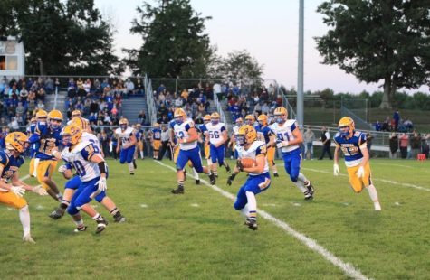 B-A dominated the Mount Union Trojans on their home turf 49-0.
