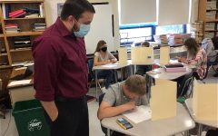 Mr. Moyers easy demeanor has made him a popular teacher among middle school students.
