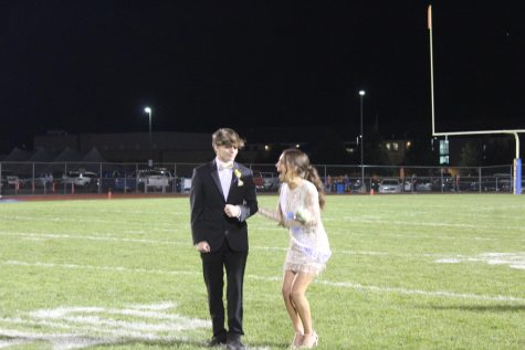Emilee Kensinger reacts to being named Homecoming queen.