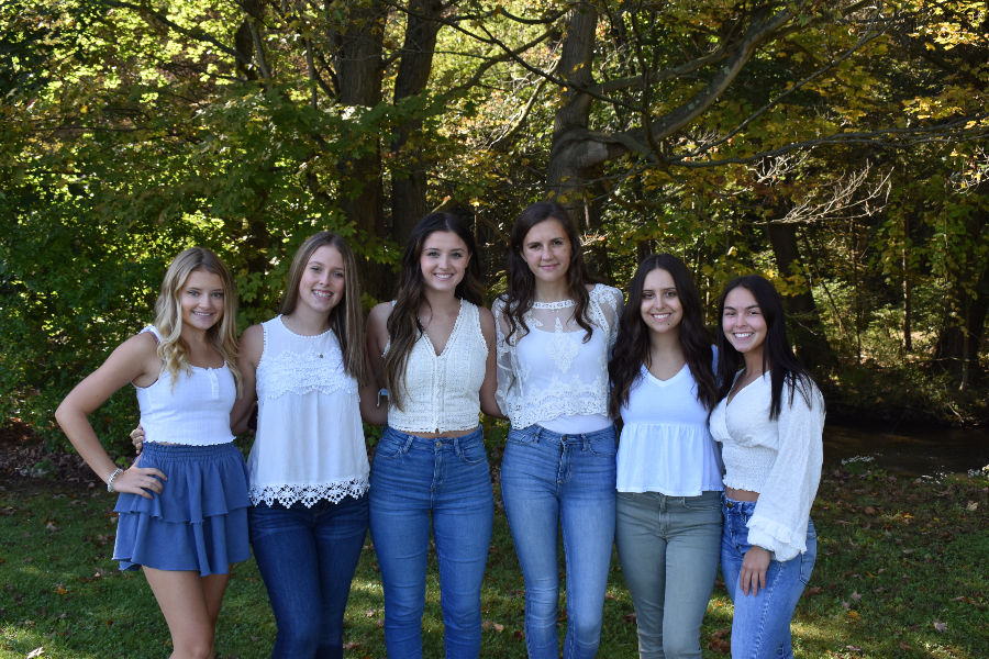 This years Homecoming court consists of (l to r) Reghan Hostler, Emma Chronister, Giovanna Caracciolo, Sophia Nelson, Emilee  Kensinger, and Anna Lovrich.